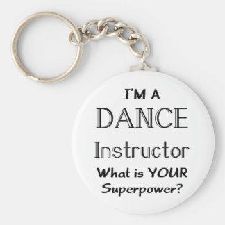 Dance instructor keychain