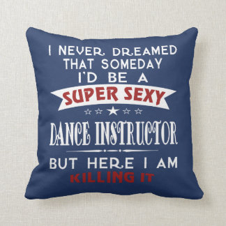 Dance Instructor Throw Pillow