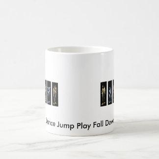 Dance Jump Play Fall Down Coffee Mug