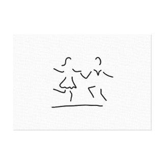 dance latin standard dancer stretched canvas print
