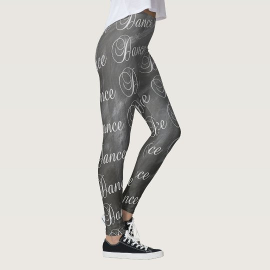 Dance Leggings Dance Text On Chalkboard