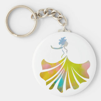 Dance like no one is watching dancing lady basic round button keychain