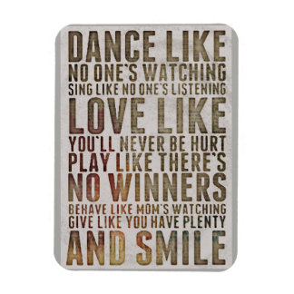 Dance Like Noone's Watching Motivational Magnet