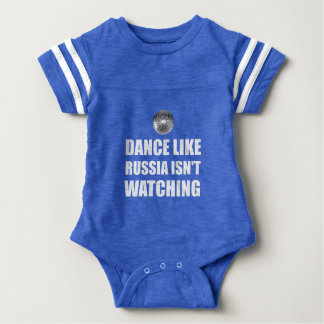 Dance Like Russia Not Watching Baby Bodysuit