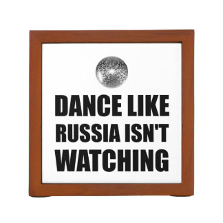 Dance Like Russia Not Watching Desk Organizer