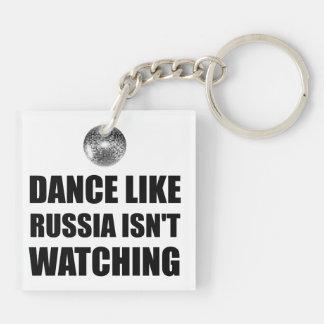 Dance Like Russia Not Watching Keychain