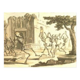 Dance Macabre Momento Mori Postcard