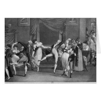 Dance mania, 1809 card