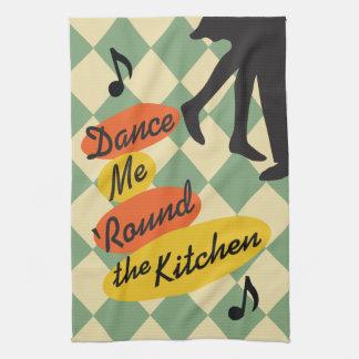 Dance Me Round the Kitchen retro Kitchen Towel