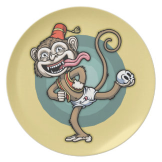 Dance, Monkey! Party Plate