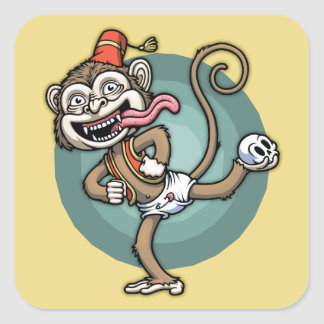 Dance, Monkey! Square Sticker