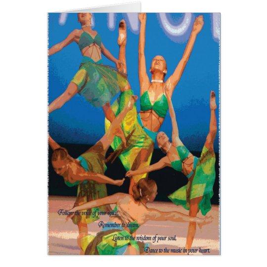 dance motivation card
