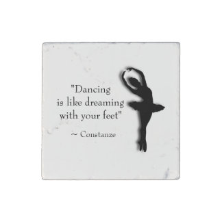 Dance Motivational Stone Magnets