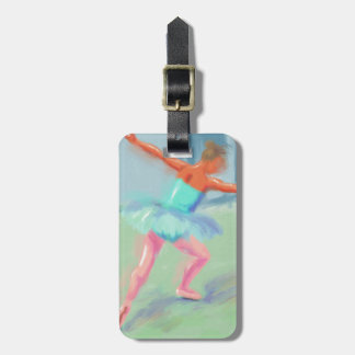 Dance Movement in Blue Luggage Tag