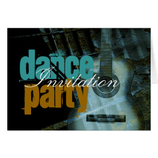 Dance Music Party Invitation Card