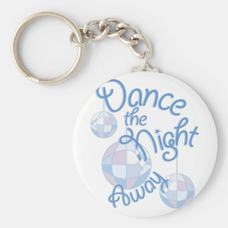 Dance Night Away Basic Round Button Keychain