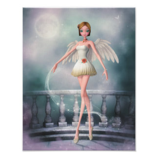 Dance of an Angel Canvas/Poster Print