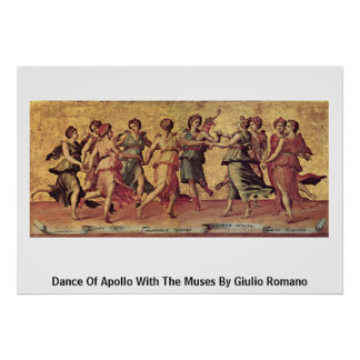 Dance Of Apollo With The Muses By Giulio Romano Poster