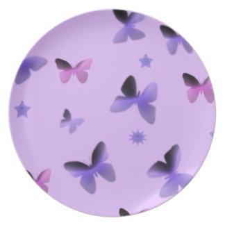 Dance of Butterflies in Lilac Purple Plate