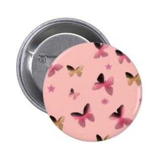 Dance of Butterflies in Pink 2 Inch Round Button