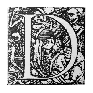 Dance of Death Alphabet Letter D Tile