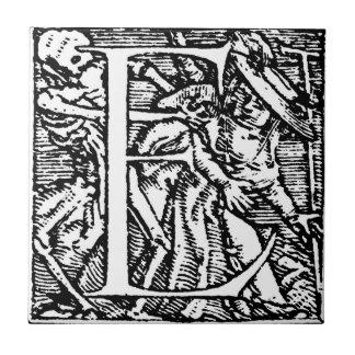 Dance of Death Alphabet Letter E Tile