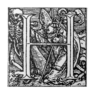 Dance of Death Alphabet Letter H Tile