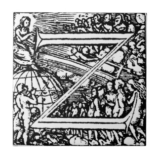 Dance of Death Alphabet letter Z tile