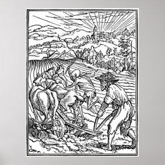 Dance of Death Engraving Illustration Print