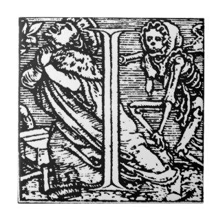 Dance of Death Letter I Tile