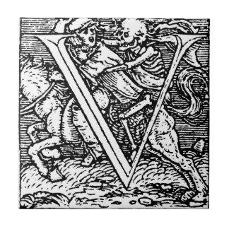 Dance of Death Letter V Tile