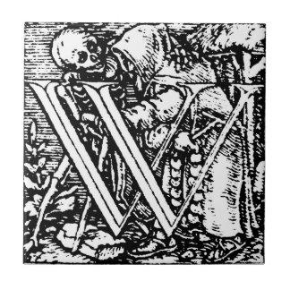 Dance of Death letter W Tile