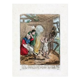 Dance of Death - The Child - 1816 Color Print Postcard