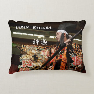 Dance of kagura of traditional art of Hiroshima Accent Pillow