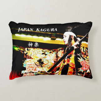 Dance of kagura of traditional art of Hiroshima Decorative Pillow