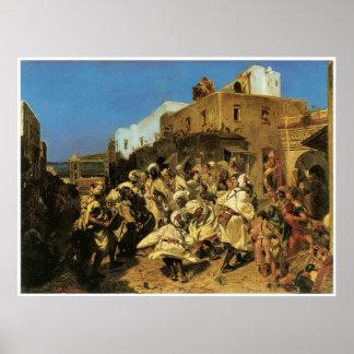 Dance of the Blacks in Tangier, 1874 Poster