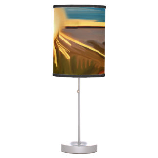 Dance of The Cacti Abstract Art Table Lamps