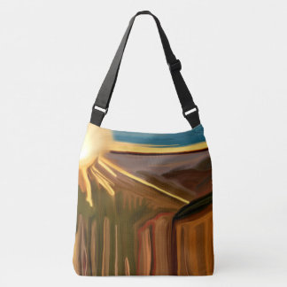 Dance of the Cacti Southwest Abstract Art Crossbody Bag