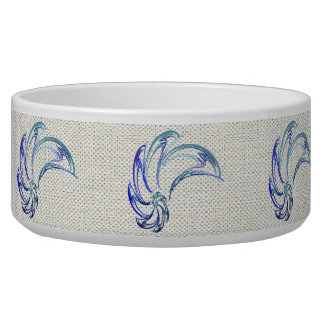 Dance of the Dolphins Abstract Art Pet Water Bowls