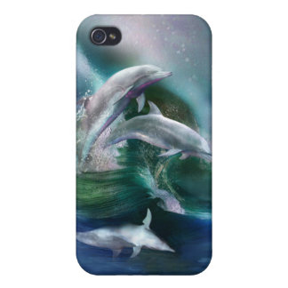 Dance Of The Dolphins Art Case for iPhone 4