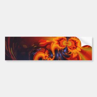 Dance of the Dragons - Indigo & Amber Eyes  Artist Bumper Sticker