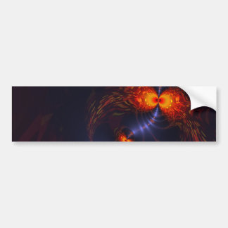 Dance of the Eyes – Indigo and Gold Bumper Sticker