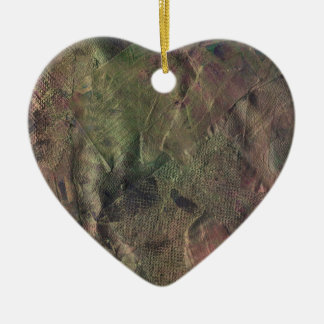 Dance of the Fire Faeries Ceramic Heart Ornament