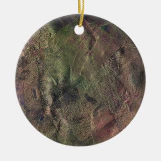 Dance of the Fire Faeries Round Ceramic Ornament