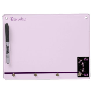 Dance of the Hummingbird Dry Erase Board With Keychain Holder