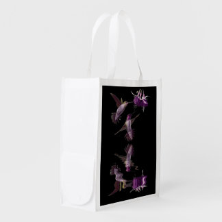 Dance of the Hummingbird Reusable Grocery Bag