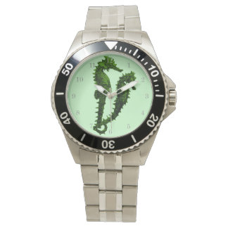 Dance Of The Seahorses (Green) Wrist Watches