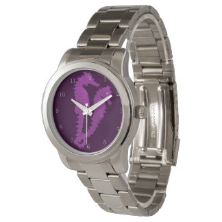 Dance Of The Seahorses (Purple) Wrist Watches
