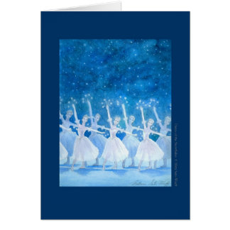 Dance of the Snowflakes Greeting Card