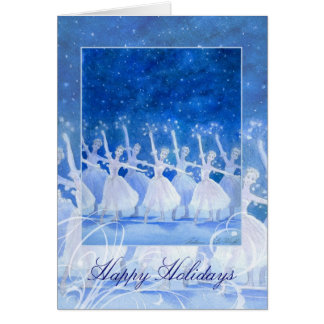 Dance of the Snowflakes Holiday Greeting Card